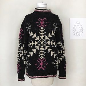 Woolrich Vintage Nordic Chunky Snowflake Sweater